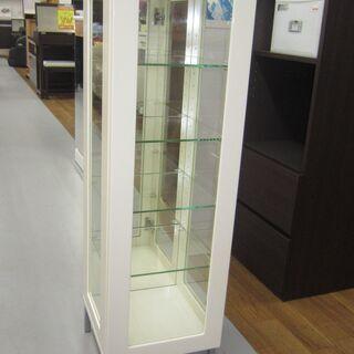R209 全面ガラス  スリムコレクションケース4段、幅30cm 美品