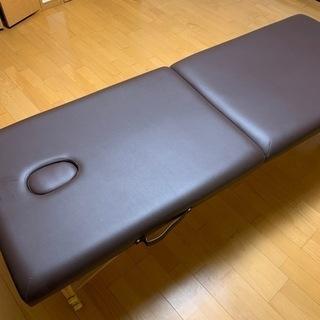 軽量木製折りたたみベッド(ダークブラウン)