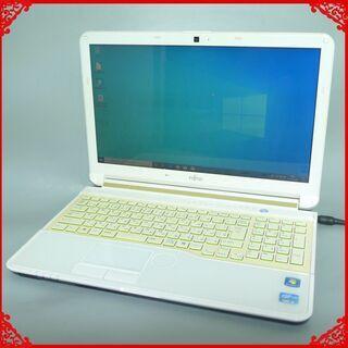 新品高速SSD 日本製 中古良品 白 ノートパソコン 15…