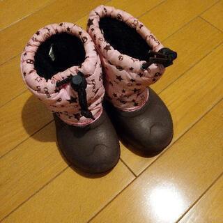 ブーツ 16cm 茶・ピンク