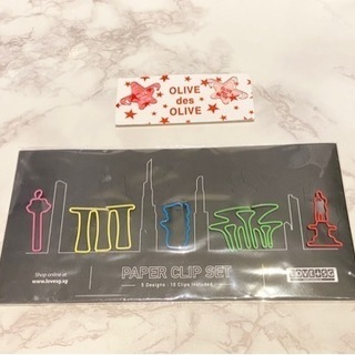 クリップ2点セット(ピンク星、シンガポール観光地)