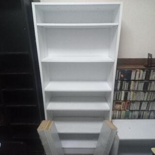白い大型本棚 お譲りします