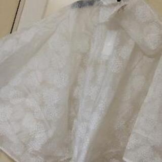 新品袋付き花ドイリー柄レインポンチョ