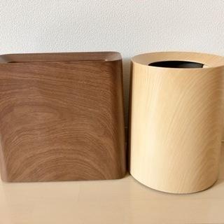 【美品】 ideaco ゴミ箱 木目調 ダストボックス ご…
