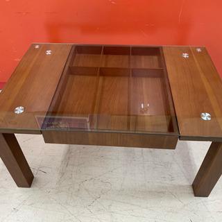 ガラス 天板 センターテーブル 小物入れ 収納 Y10
