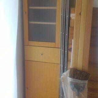 食器棚 無印 MUJI カップボード メープル材(廃番品)