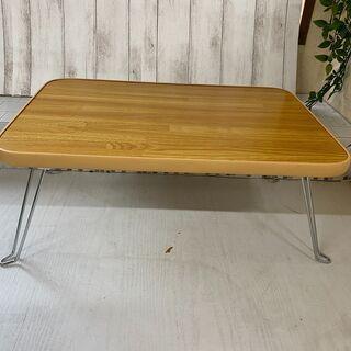 ナチュラル 45×30cm MISM ミニテーブル 寄木柄
