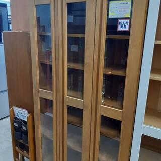 😲大容量😲  ガラス扉付き書棚 本棚 引き出し付き アルダ…