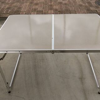 アウトドア用アルミテーブル(120x80x55.5~70c…