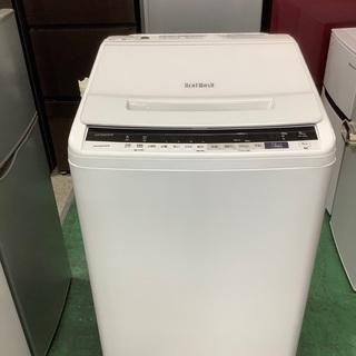 安心の1年保証付!! HITACHI 8.0kg全自動洗濯…