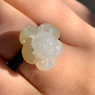 本翡翠リング 指輪 ミャンマー産 天然黄翡翠 無含浸無着色…
