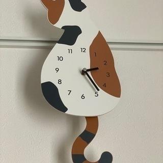 ニトリ掛け時計ねこ