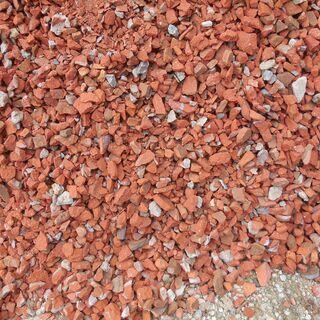 レンガ 煉瓦 チップ 砕石 4トンダンプ1台分 約5リュー…