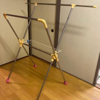 部屋干し用折りたたみ物干し竿