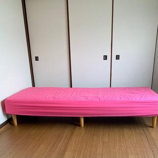 脚付きマットレス型ベッド シングル