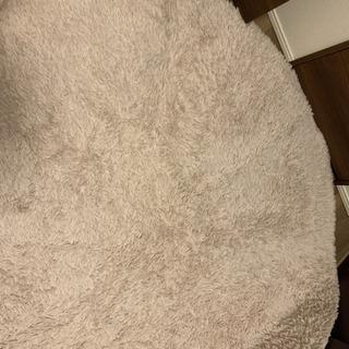 サヤンサヤン 洗えるシャギーラグ 直径190