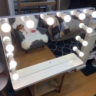 女優ミラー 卓上化粧鏡 ハリウッドミラー LED電球付き …