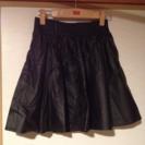 LOWRYSFARMのレザースカート