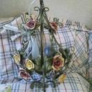 着払い0円、薔薇のシャンデリア。アンティーク風?