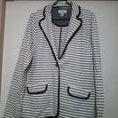 L.Lbean  ボーダー 白のジャケット サイズS
