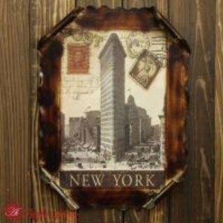 レトロ看板 ニューヨークの風景 ポストカード