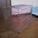 犬用のケージ?:持ち運び取っ手付き:折り畳み式