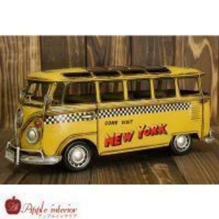 ブリキ玩具 車 ニューヨークタクシー VWバンタイプ イエロー