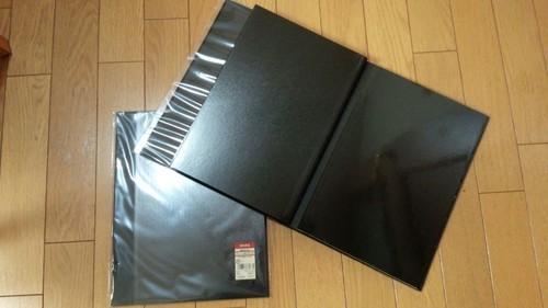 無印良品 A4サイズの未使用アルバムと追加台紙の画像
