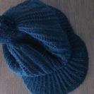コムサイズム 44~46センチ ニット帽 黒