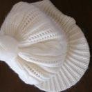コムサイズム 44~46センチ ニット帽 白