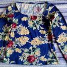 0円(株)レナウン ボタニカル柄Tシャツ