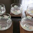 麦茶などに☆グラスと木製コースター5個の画像