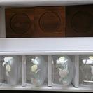 麦茶などに☆グラスと木製コースター5個 − 栃木県