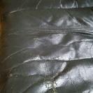 革製ソファ(黒)4人掛 無料で差し上げます