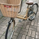 値下げしました!脚を開かず乗れる子供乗せ自転車!