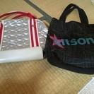 キットソンとXOXOのスポーツバッグ