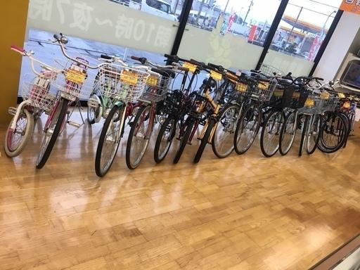 自転車大量展示中!